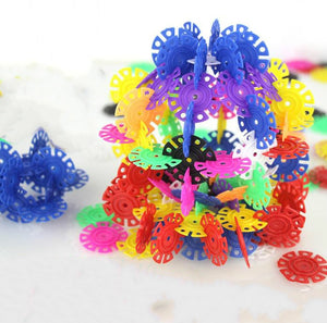 800pcs/lot Multicolor Snow Snowflake Building Blocks Baby Children Montessori Kid Educational Toy DIY Toys GYH - thegsnd
