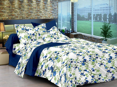 Ahmedabad Cotton Comfort 160 TC Cotton Double Bedsheet with 2 Pillow Covers - thegsnd
