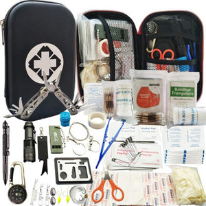 82 in 1 Camping Outdoor Survival kit Set Travel Multifunction First aid SOS EDC Emergency Supplies Tactical for Wilderness tool - thegsnd