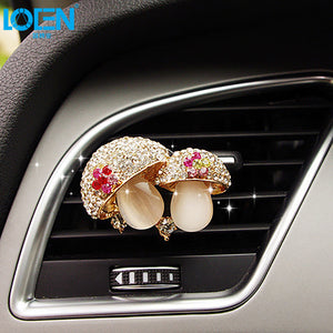 Car Air Freshener Scents Auto Perfume Vent Outlet Clip With Solid Fragrance Sheet Swan Mushroom Butterflies Planet Dance Girl - thegsnd