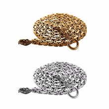 Load image into Gallery viewer, 86cm/101cm Gold Silver Color Steel Self Defense Hand Bracelet Chain Dragon Head And Tail Outdoor Camping Hiking Tools - thegsnd