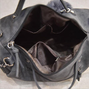 Versatile Leather Large Capacity Shoulder Bag - thegsnd