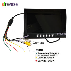 "9"" IPS HD SD DVR Recording 2CH Split 4Pin Car Rear View Monitor + 2x Waterproof AHD 1080P Reversing Backup Camera For Bus Truck-Automobile Accessories-thegsnd-thegsnd"