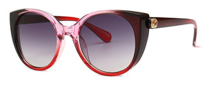 Gradient Frame Cat Eye Sunglasses Women Goggle Shades - thegsnd