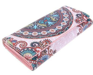 Leather Wallets Long Purse Vintage Cards Holder Clutch Bags Day Clutch Handbag Wallet - thegsnd