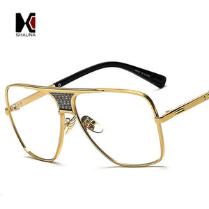 SHAUNA Vintage Men Square Sunglasses Women Brand Designer Fashion Women Golden Alloy Frame Sun Glasses UV400 - thegsnd