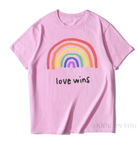 Load image into Gallery viewer, Men's Pride Lgbt Gay Love Lesbian Rainbow Cotton T Shirts 2019 Summer Workout Love Wins Tshirts Boyfriend Gift - thegsnd