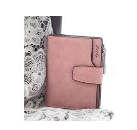 Lady Letter Wallet Zipper Short Clutch Solid Vintage Matte Women Wallet Fashion Small Female Purse Short Purse-thegsnd