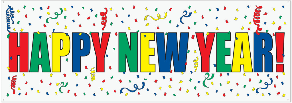 Happy New Year Sign Banner Case Pack 12 - thegsnd