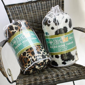 Blancho Bedding - [animal Leopard Brown] Micro Mink Throw Blanket 14.5 Oz Filling (50 By 70 Inches)-Bedding-Blancho Bedding-thegsnd