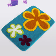 [dancing Flowers - Royal Blue] Kids Room Rugs (19.7 By 31.5 Inches) - thegsnd