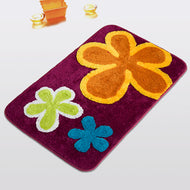 [dancing Flowers - Violet Red] Kids Room Rugs (19.7 By 31.5 Inches) - thegsnd