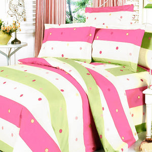 Blancho Bedding - [colorful Life] 100% Cotton 3pc Mini Duvet Cover Set (full Size)-Bedding-Blancho Bedding-thegsnd