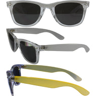 Color Change Wayfarer With Smoke Polycarbonate Lenses, Clear Temple Changes To Yellow - thegsnd