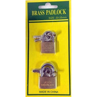 Brass Padlock Small Case Pack 36 - thegsnd