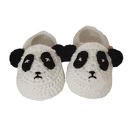 Baby Panda Handmade Crochet Shoes Knit Winter Sock Keepsake Gift 11cm White - thegsnd