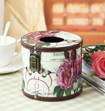 Load image into Gallery viewer, Creative Retro Circular Tissue Box Wooden Rural Style Holders-a - thegsnd