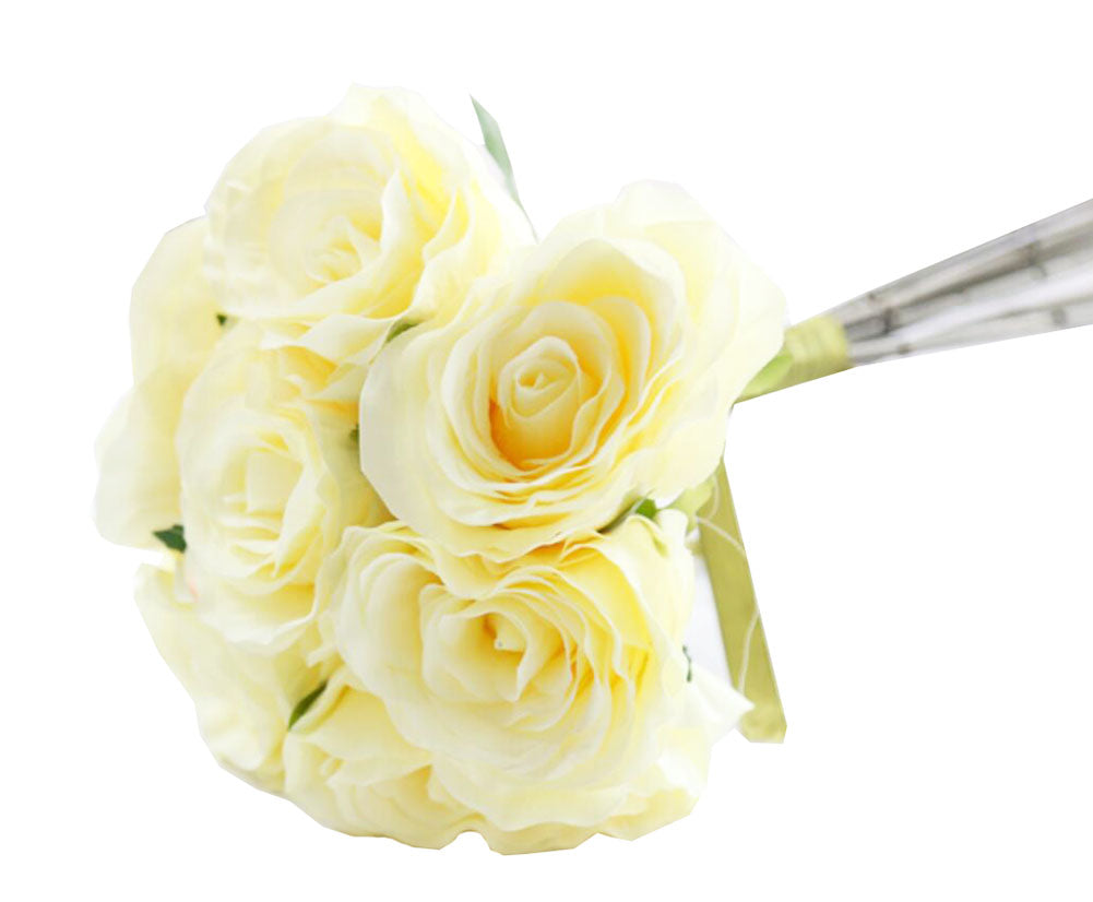 Home Decoration Artificial Plants Wedding Bouquet Artificial Flowers -rose D - thegsnd