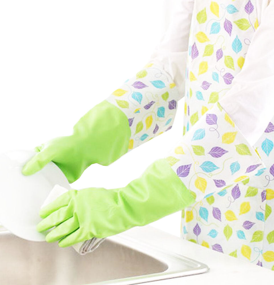 Waterproof Gloves Velvet Warm Cleaning Gloves Dish Washing Gloves -03 - thegsnd