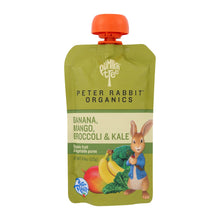 Load image into Gallery viewer, Peter Rabbit Organics Veggie Snacks - Kale, Broccoli And Mango With Banana - Case Of 10 - 4.4 Oz. - thegsnd