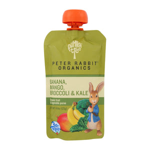 Peter Rabbit Organics Veggie Snacks - Kale, Broccoli And Mango With Banana - Case Of 10 - 4.4 Oz. - thegsnd