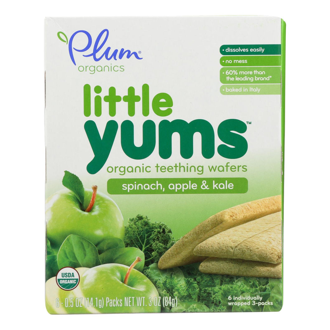 Plum Organics Little Yums - Spinach, Apple And Kale - Case Of 6 - 0.5 Oz. - thegsnd