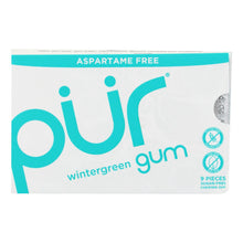Load image into Gallery viewer, Pur Gum - Wintergreen - Aspartame Free - 9 Pieces - 12.6 G - Case Of 12 - thegsnd