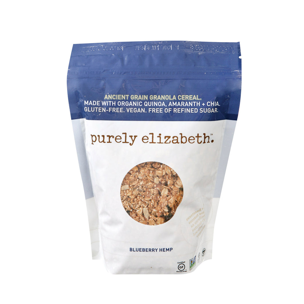 Purely Elizabeth Organic Ancient Grain Granola - Blueberry Hemp - Case Of 6 - 12 Oz. - thegsnd