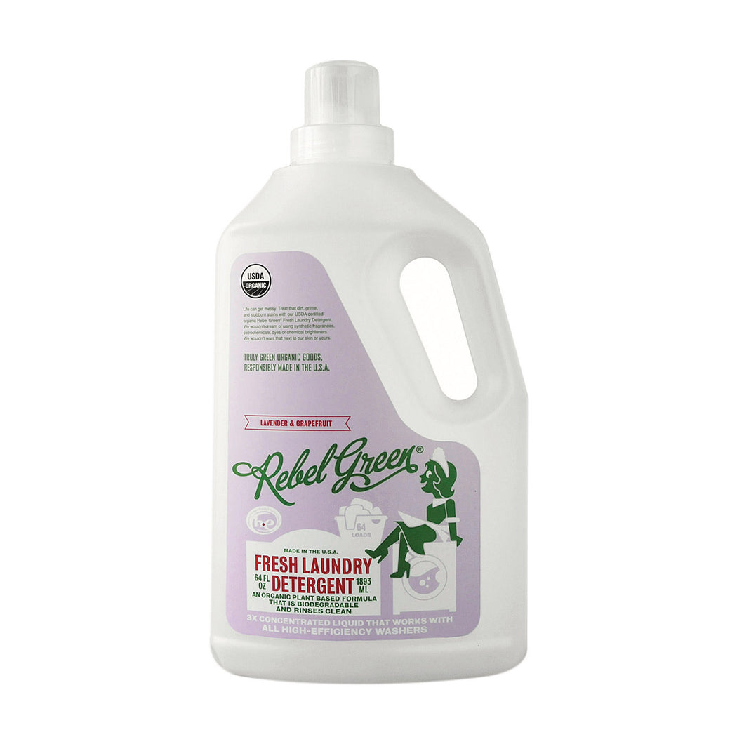 Rebel Green Laundry Detergent - Lavender And Grapefruit - Case Of 4 - 64 Fl Oz - thegsnd