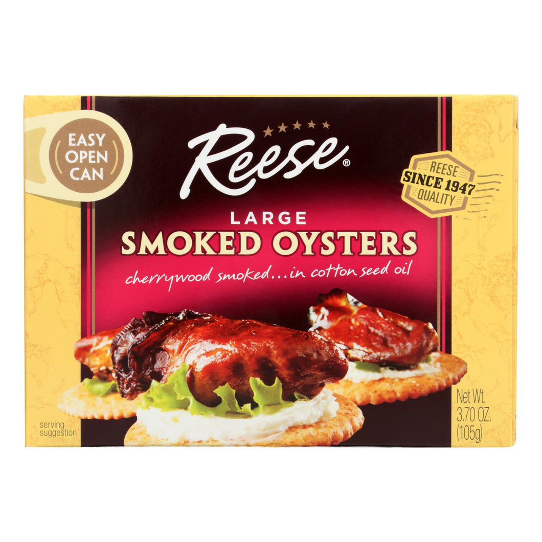 Reese Oysters - Smoked - Large - 3.7 Oz - Case Of 10 - thegsnd