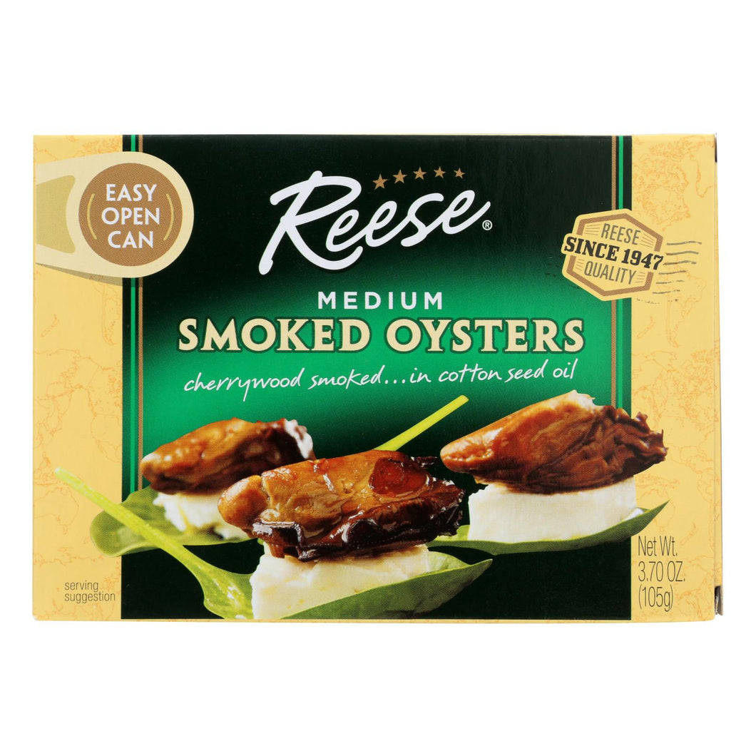 Reese Oysters - Smoked - Medium - 3.7 Oz - Case Of 10 - thegsnd