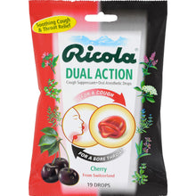 Load image into Gallery viewer, Ricola Dual Action Cough Drops - Cherry - Case Of 12 - 19 Pack - thegsnd