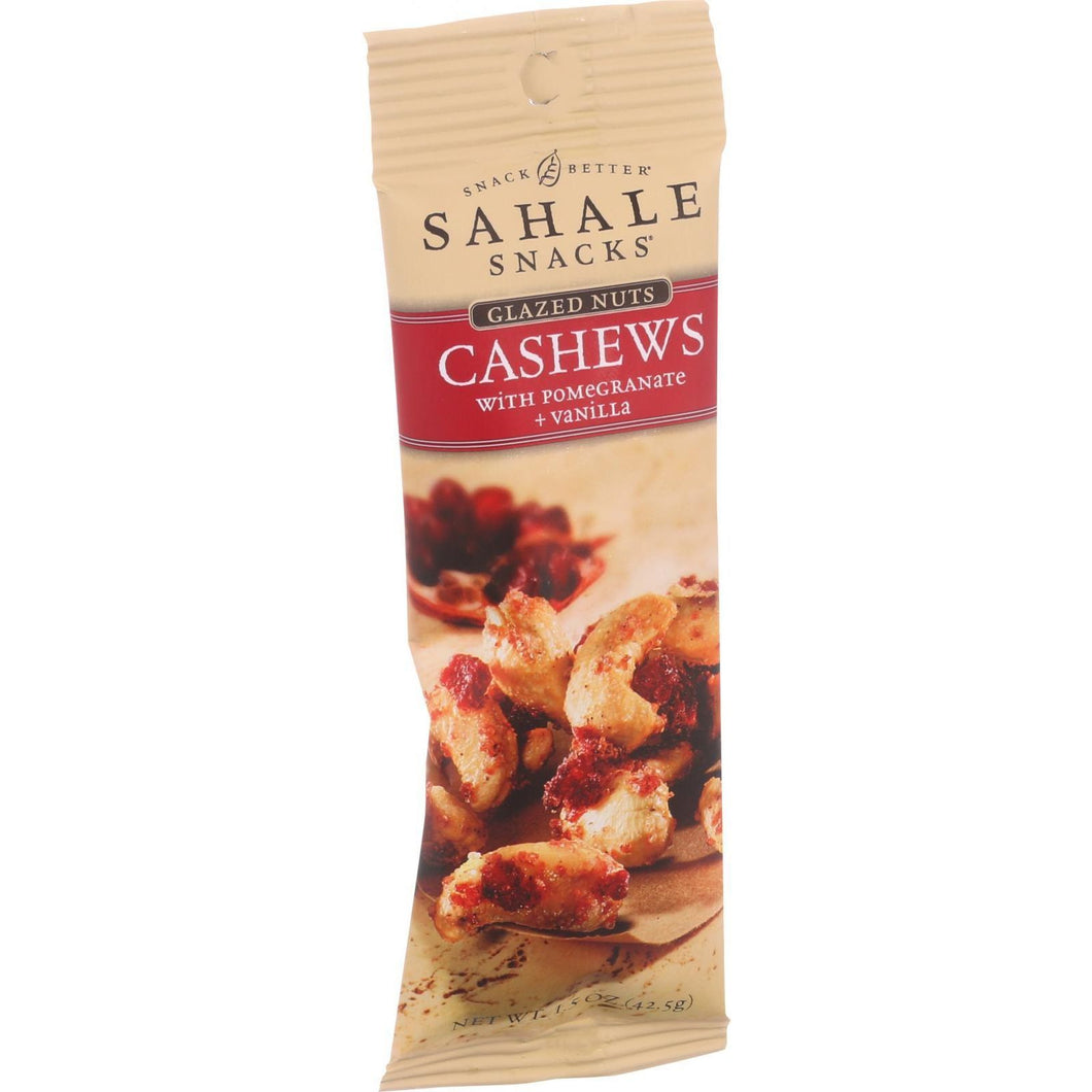 Sahale Snacks Glazed Nuts - Cashews With Pomegranate And Vanilla - 1.5 Oz - Case Of 9 - thegsnd