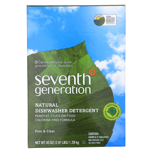 Seventh Generation Auto Dish Powder - Free And Clear - Case Of 12 - 45 Oz. - thegsnd