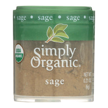Load image into Gallery viewer, Simply Organic Sage Leaf - Organic - Ground - .21 Oz - Case Of 6 - thegsnd