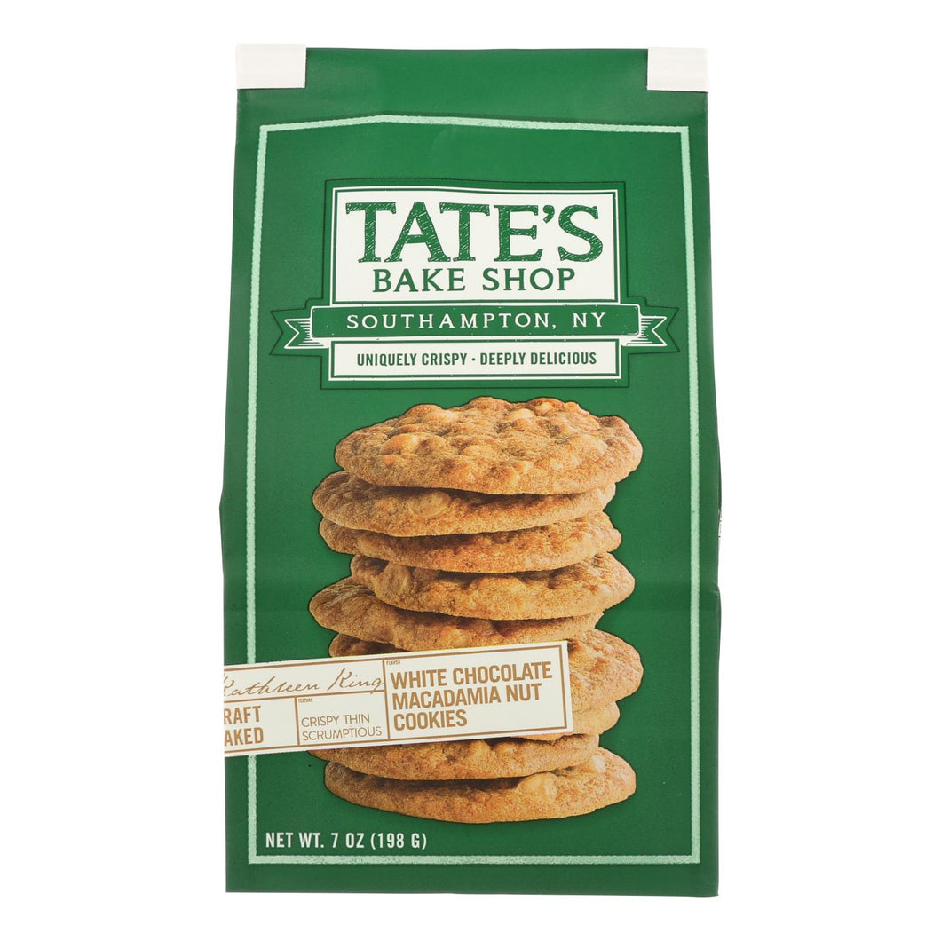 Tate's Bake Shop White Chocolate Macadamia Nut Cookies - Case Of 12 - 7 Oz. - thegsnd