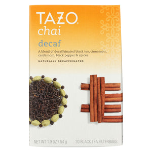 Tazo Tea Spiced Black Tea - Decaffeinated Tazo Chai - Case Of 6 - 20 Bag - thegsnd
