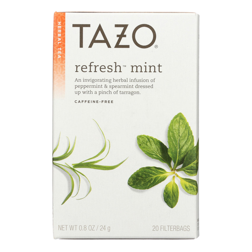 Tazo Tea Herbal Tea - Refreshing Mint - Case Of 6 - 20 Bag - thegsnd