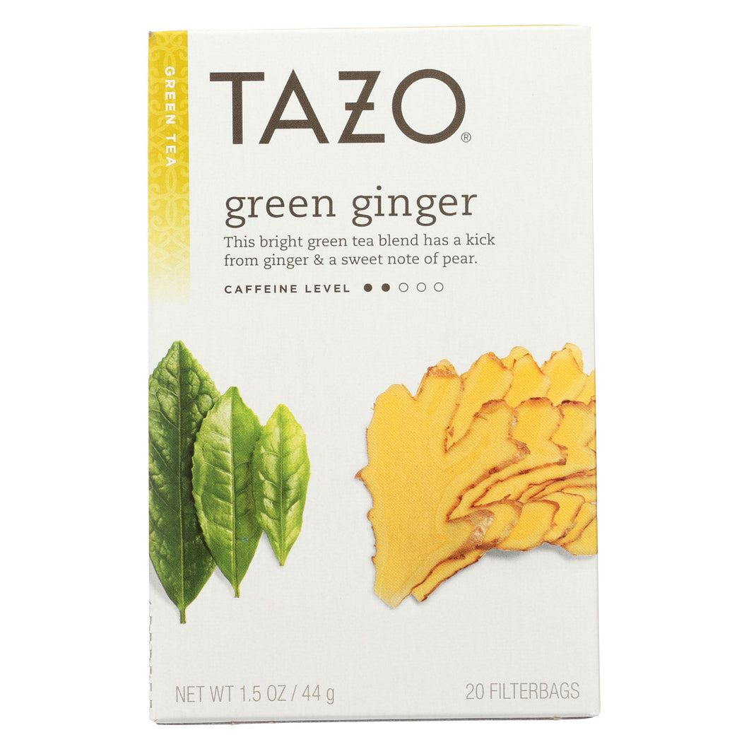 Tazo Tea Green Tea - Ginger - Case Of 6 - 20 Bag - thegsnd