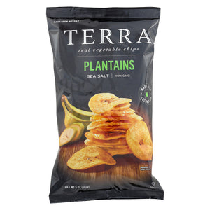 Terra Chips Veggie Chips - Plantains With Sea Salt - Case Of 12 - 5 Oz - thegsnd