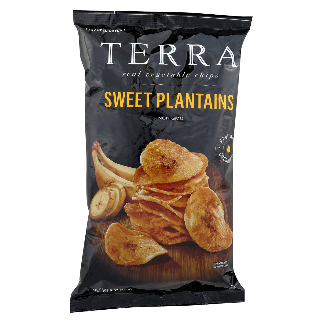 Terra Chips Veggie Chips - Sweet Plantains - Case Of 12 - 5 Oz - thegsnd