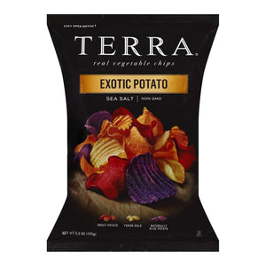 Terra Chips Exotic Potato Chips Sea Salt - Case Of 12 - 5.5 Oz. - thegsnd