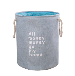 Household Clothes Storage Baskets Foldabe Laundry Hamper, Blue - thegsnd