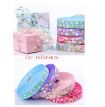 Load image into Gallery viewer, Baking Wrapping Cake Gift Decoration Ribbon Floral Pattern Ribbon 1 Rolls, Blue - thegsnd