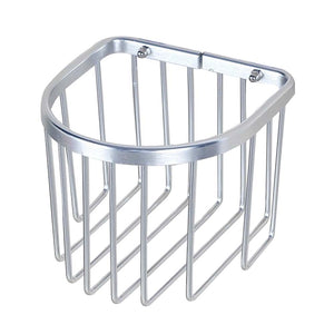 New Bathroom Tissue Holder Aluminium Toilet Roll Holders Basket, Silver - thegsnd