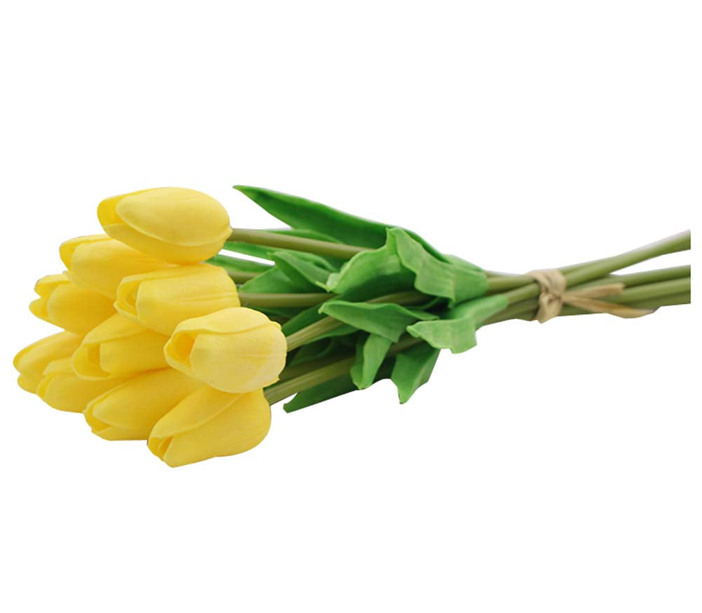 thegsnd 10 Pieces Elegant Tulips Artificial Flowers Pu Fake Flowers For Home Decorations, Yellow  <span class=money>$29.8</span> Plants & Flowers Home decor