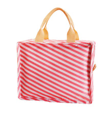 Load image into Gallery viewer, New Portable Waterproof Insulated Lunch Bag Tote Bag For Women, Red Stripe - thegsnd