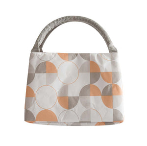 Fashion Zipper Lunch Bag Thermal Bento Bag For Office-school-picnic, Geometric Pattern B - thegsnd