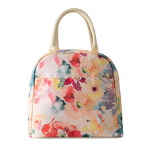 Load image into Gallery viewer, Printing Design Insulated Reusable Lunch Tote Organizer Bag, Colorful Flowers - thegsnd
