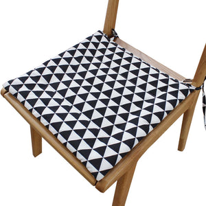 Modern Chair Seat Protector Pad Dining Chair Pads For All Season, 2 Pieces, Black&white - thegsnd